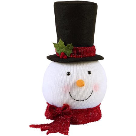 Holiday Time Snowman Tree Topper Classic Design with Signature Top Hat
