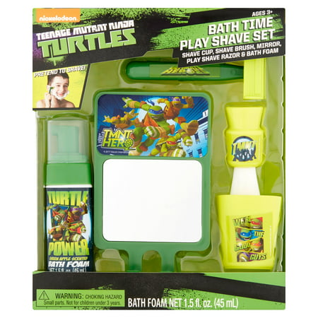 Nickelodeon Age Mutant Ninja Turtles Bath Time Play Shave Set 3