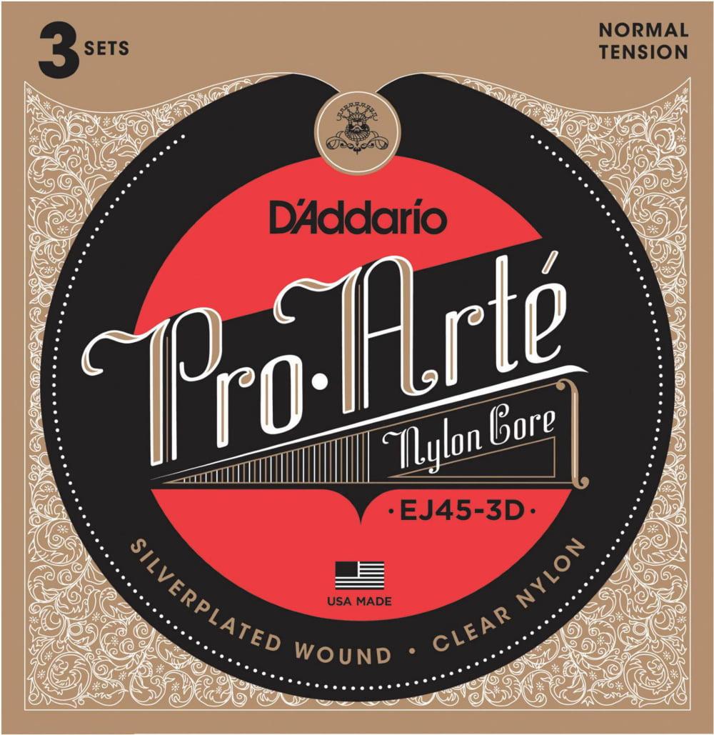 D'Addario EJ45 Pro-Arte Classical Guitar Strings 3-Pack by D'Addario