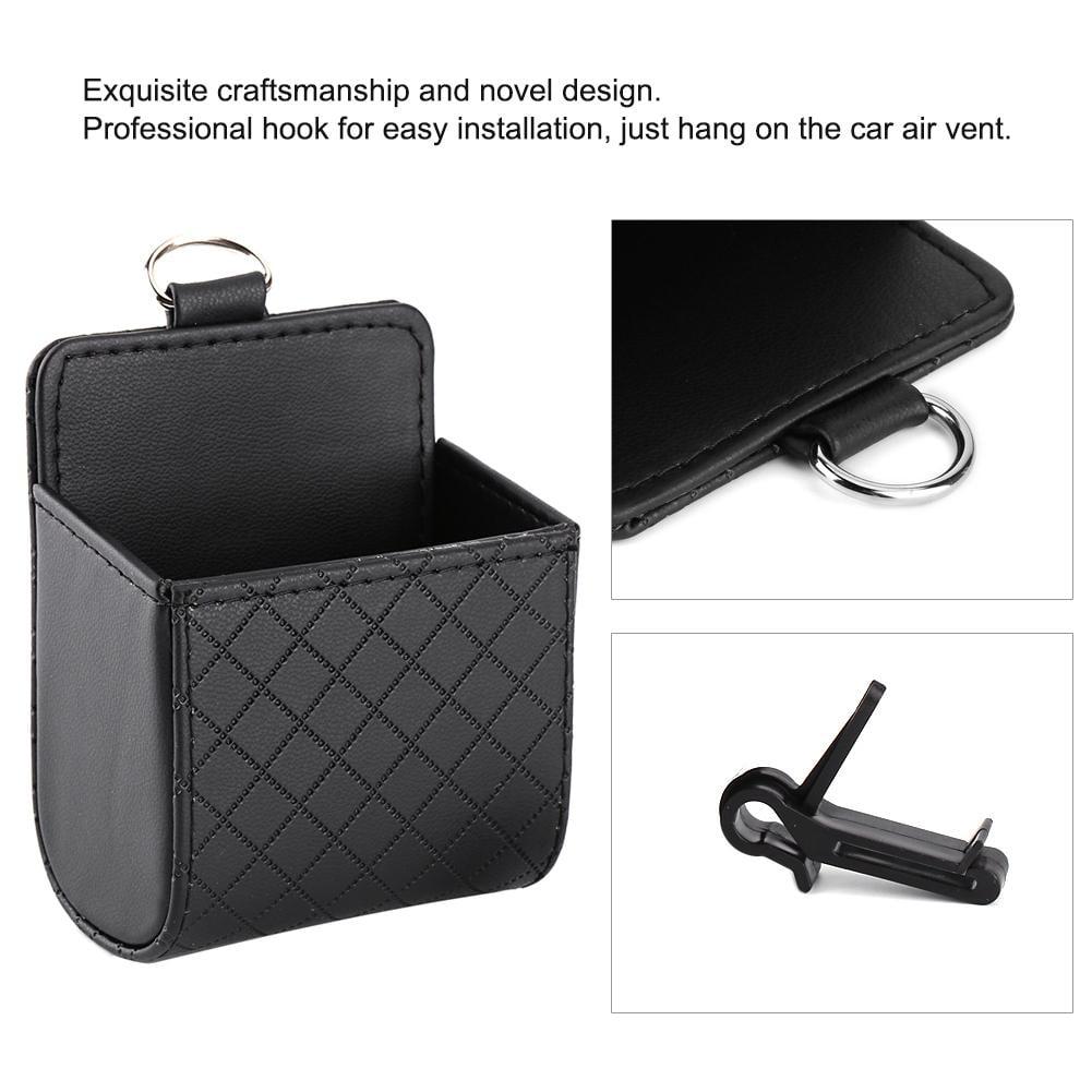 Color : Black Car Storage Car Air Vent Mobile Cellphone Pocket Bag Mini Portable Storage Bag Pouch Box Storage Organizer Carrying Case
