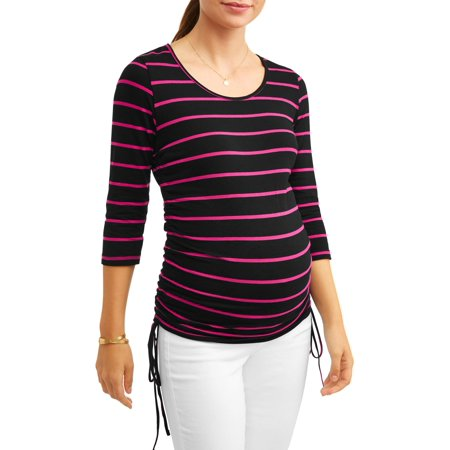 - Oh! MammaMaternity stripe side cinch tunic - available in plus sizes