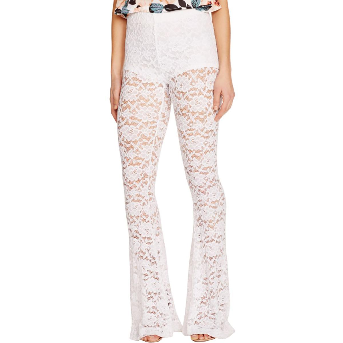 Show Me Your Mumu Womens Lace Bell Bottom Casual Pants