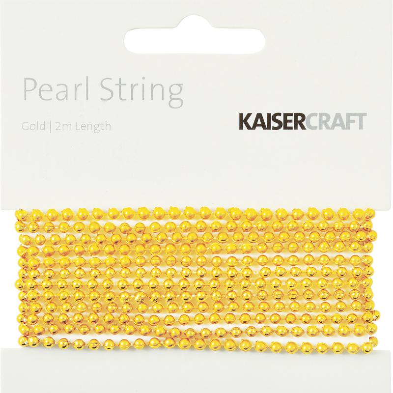 Pearl String 2m-gold
