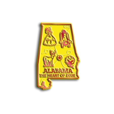 Heart Magnet - Alabama The Heart Of Dixie Map Fridge Magnet