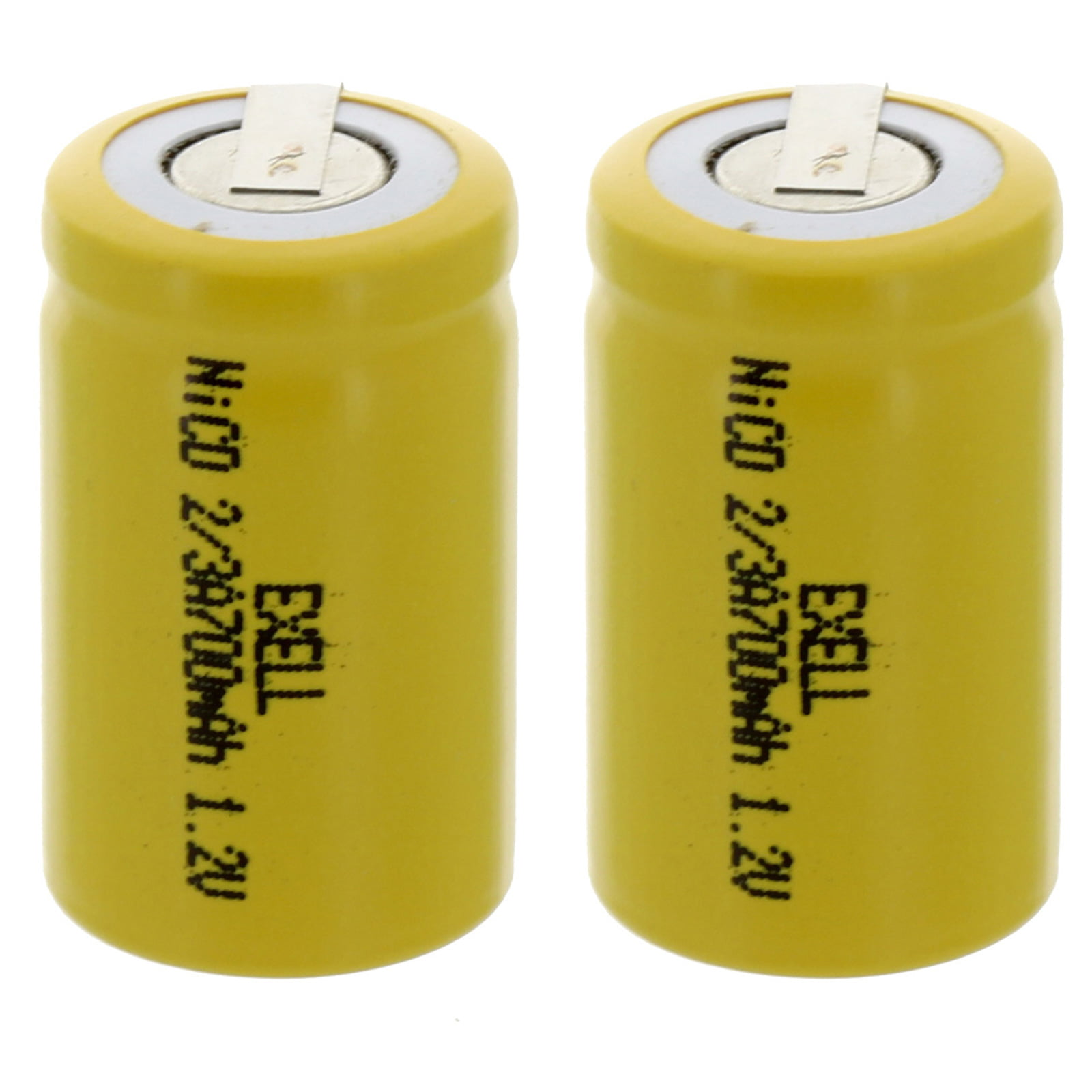 FRS DIY Pack Solar 2x AAA 1.2V 300mAh Rechargeable Batteries w//Tabs For Razor