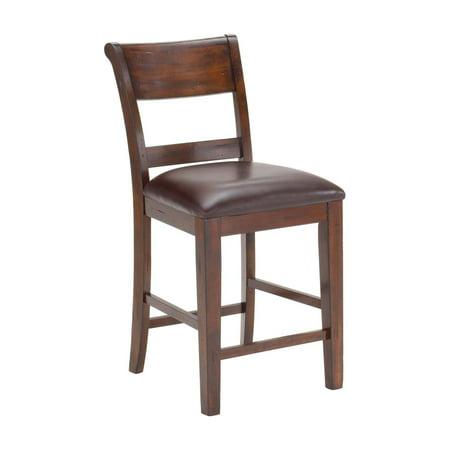 - Hillsdale Furniture Park Avenue Non-Swivel Counter Stools, Set of 2, Dark Cherry Finish