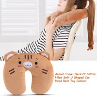 Animal Travel Neck PP Cotton Pillow Soft U Shaped Car Head Rest Toy Cushion,U Pillow, Neck Pillow