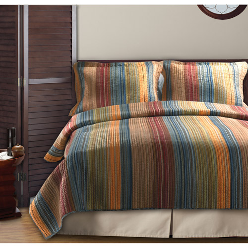 Global Trends Boho Stripe Reversible Quilt Set by Generic