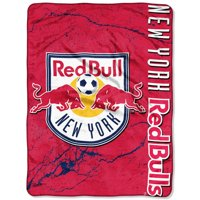"New York Red Bulls The Northwest Company 46"" x 60"" Concrete Raschel Throw Blanket - Red"
