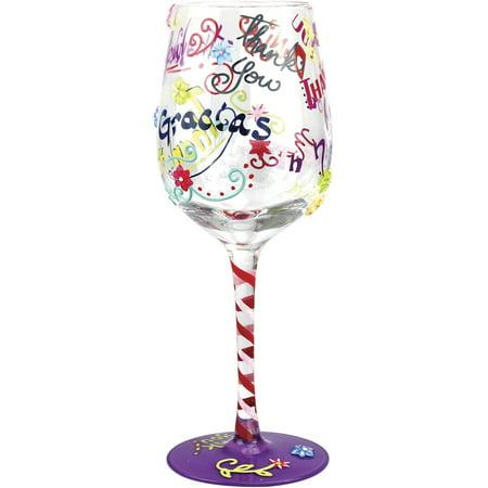 Stonebriar Top Shelf Thank You Wine Glass ()