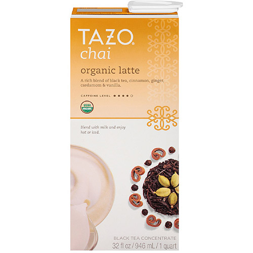 Tazo Organic Chai Spiced Black Tea Latte Concentrate, 32 oz