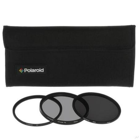Polaroid Optics 58mm 3-Piece Filter Kit Set [UV,CPL, Neutral Density] includes Nylon Carry Case – Compatible w/ All Popular Camera Lens