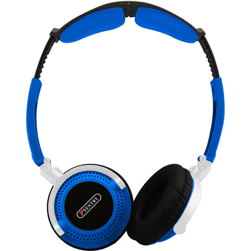 Sentry Headart Extreme Folding Headphones, Blue