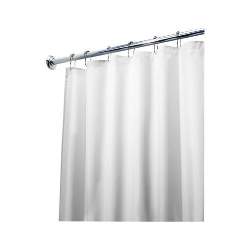 Interdesign 15062 Shower Curtain Liner, White Polyester, ...