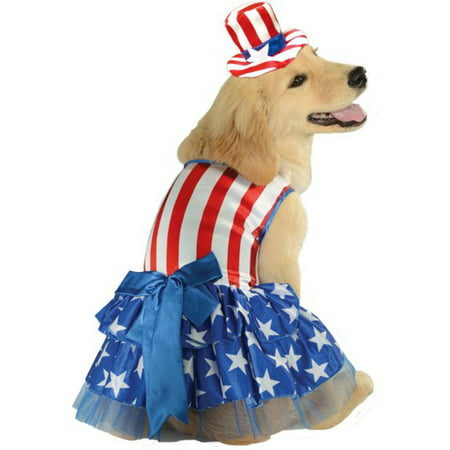 Patriotic Pooch Uncle Sam 4th Of July American Dog Pet Costume](Ballerina Costume For Dogs)