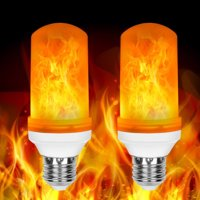 2 Pack LED Flame Effect Fire Light Bulbs E26 Flickering Fire Atmosphere Decorative Lamps