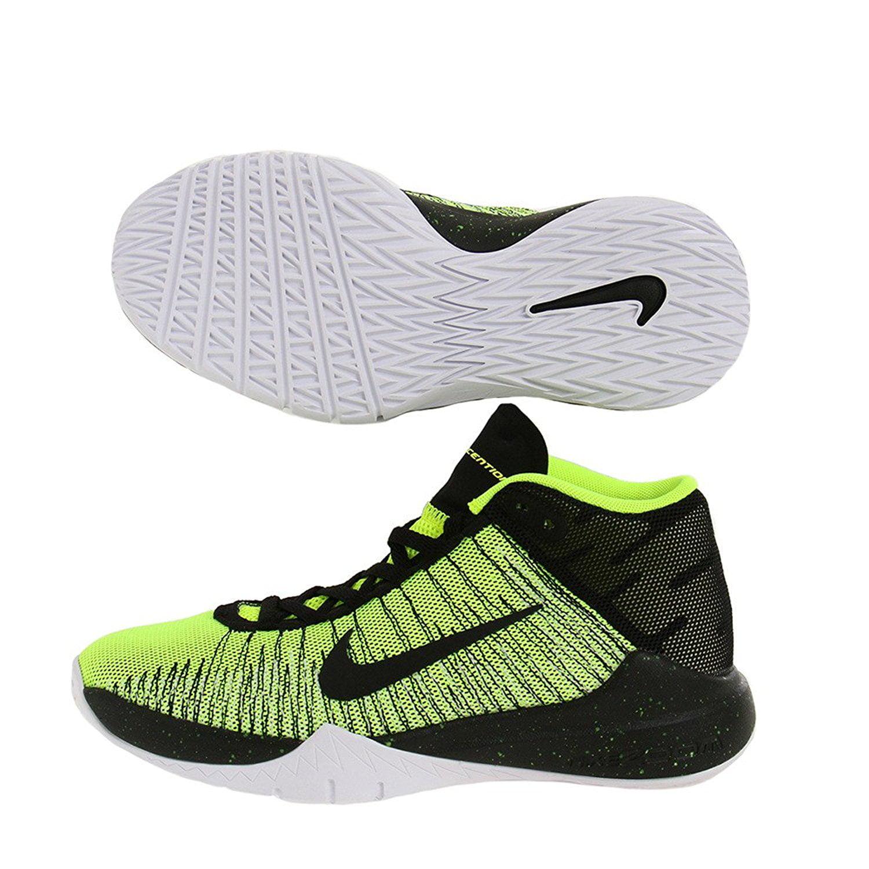 763d5d89679a ... norway boys nike zoom ascention gs basketball shoe volt black white  size 66c55 9d008