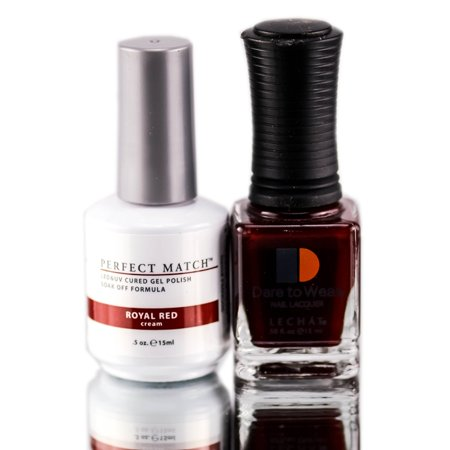 Gel Polish: Lechat Nobility Perfect Match Nail Polish Gel - Color : 06 - Royal Red - White And Red Halloween Nails