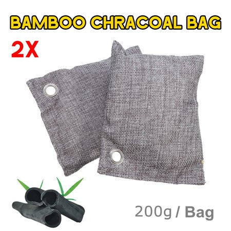 2/5Pcs 200g Bamboo Charcoal Air Purifying Bag Activated Odor Purifier Home Car Fresher Wardrobe Deodorizer - image 1 of 7