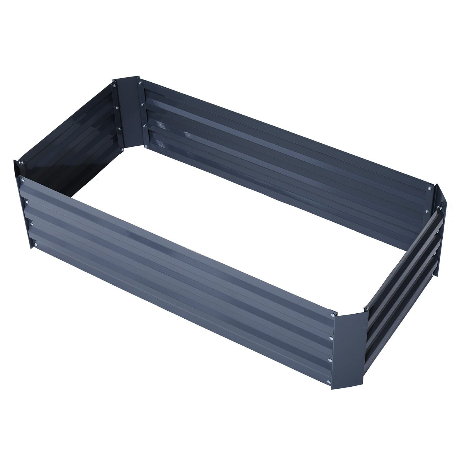 Outsunny 49 x 26 in. Galvanized Metal Raised Garden Bed