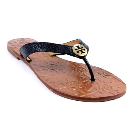 Tory Burch Women's Thora Flat Thong Sandal, (7, Black/Gold)](Bloch Shoes)