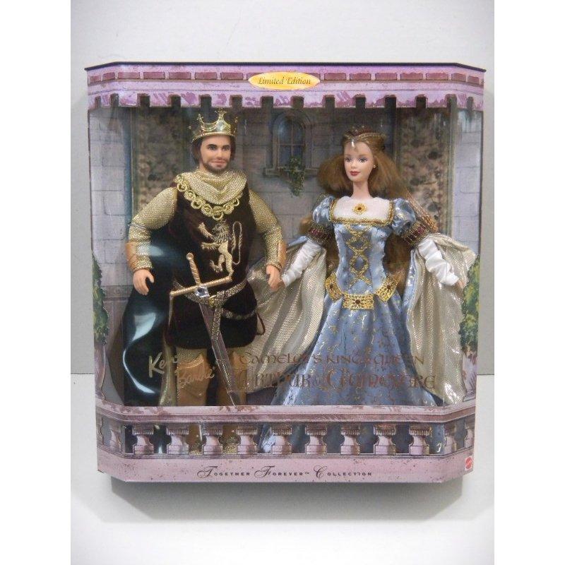 Mattel Ken & Barbie As Camelot's King & Queen Arthur & Gu...