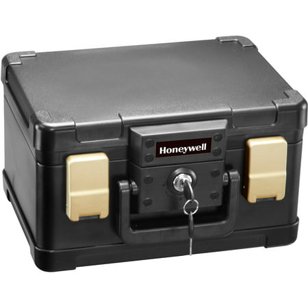 Honeywell 0.15 cu. ft. Waterproof 30-Minute Fire Chest with Key Lock, 1102