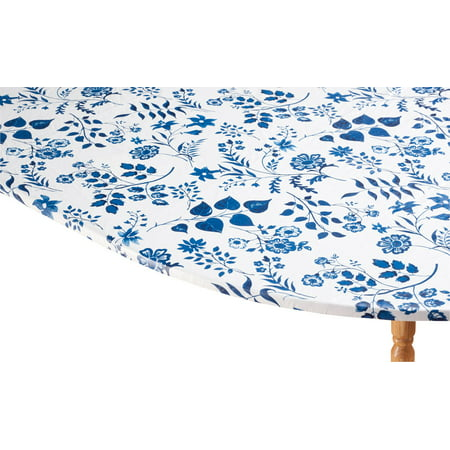 Elasticized Table Cover Rectangle (Flowing Flowers Vinyl Elasticized Table Cover by HSK 42