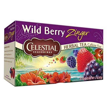 Wild Berry Zinger Tea Bags - 20 ct, The freshly picked taste of this luscious blend evokes thoughts of coming home at dusk with pails full of.., By Celestial (Taste Berries)