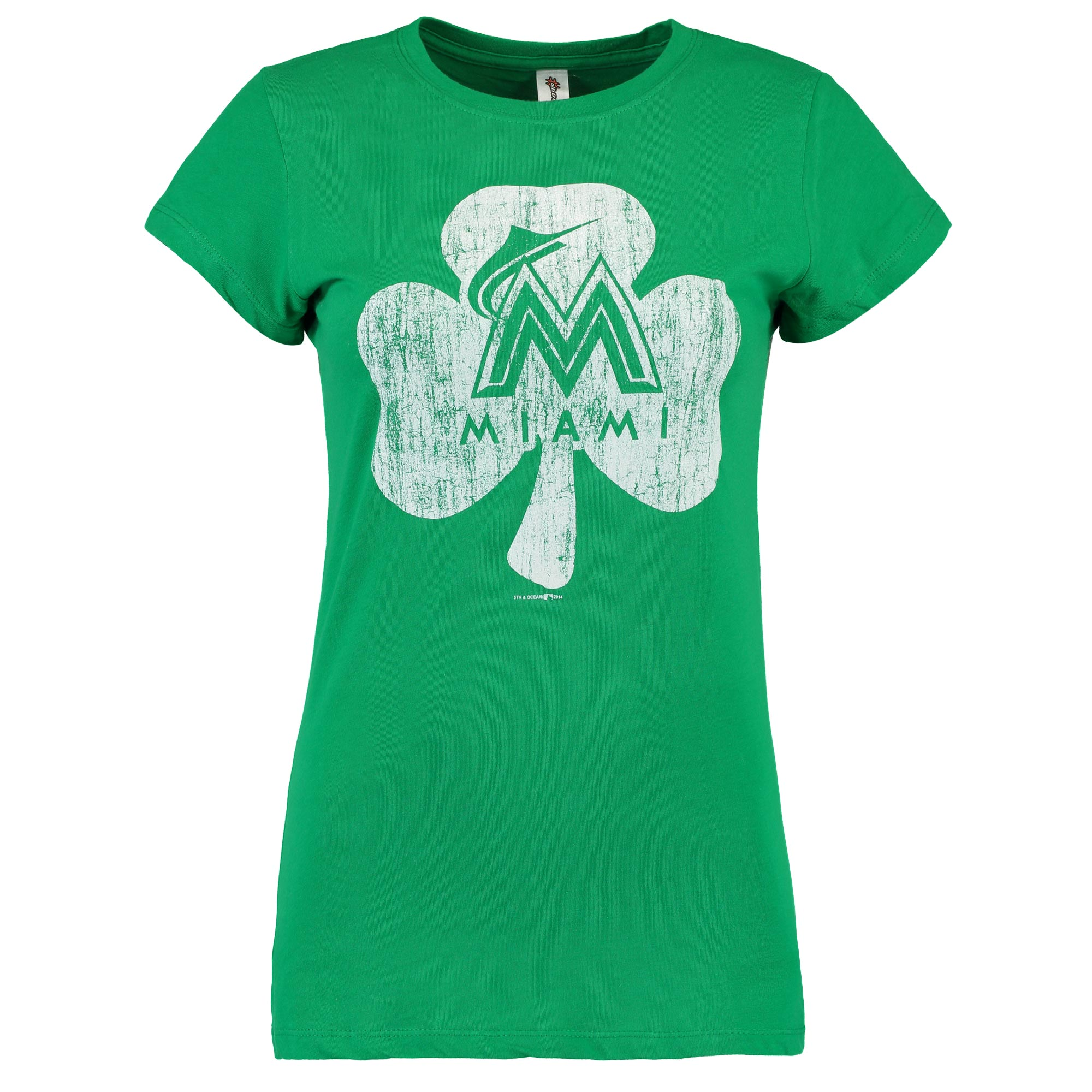 Miami Marlins 5th & Ocean by New Era Women's St. Patrick's Day T-Shirt - Green