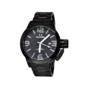 Mens XXL Stainless Steel Case and Canteen Bracelet Black Dial Black Watch - CB212