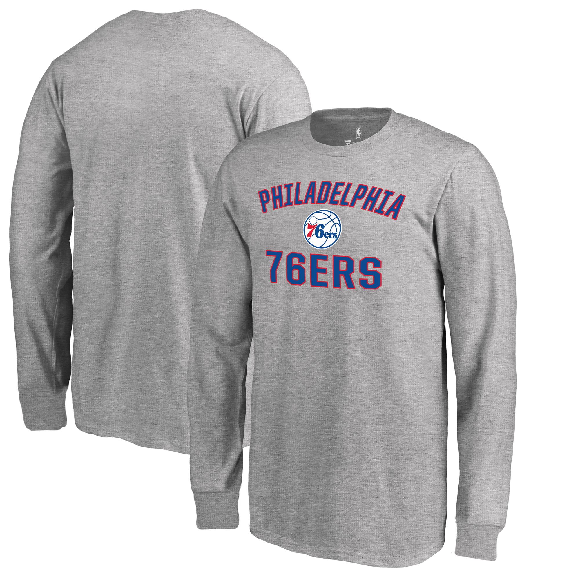 Philadelphia 76ers Fanatics Branded Youth Victory Arch Long Sleeve T-Shirt - Heathered Gray