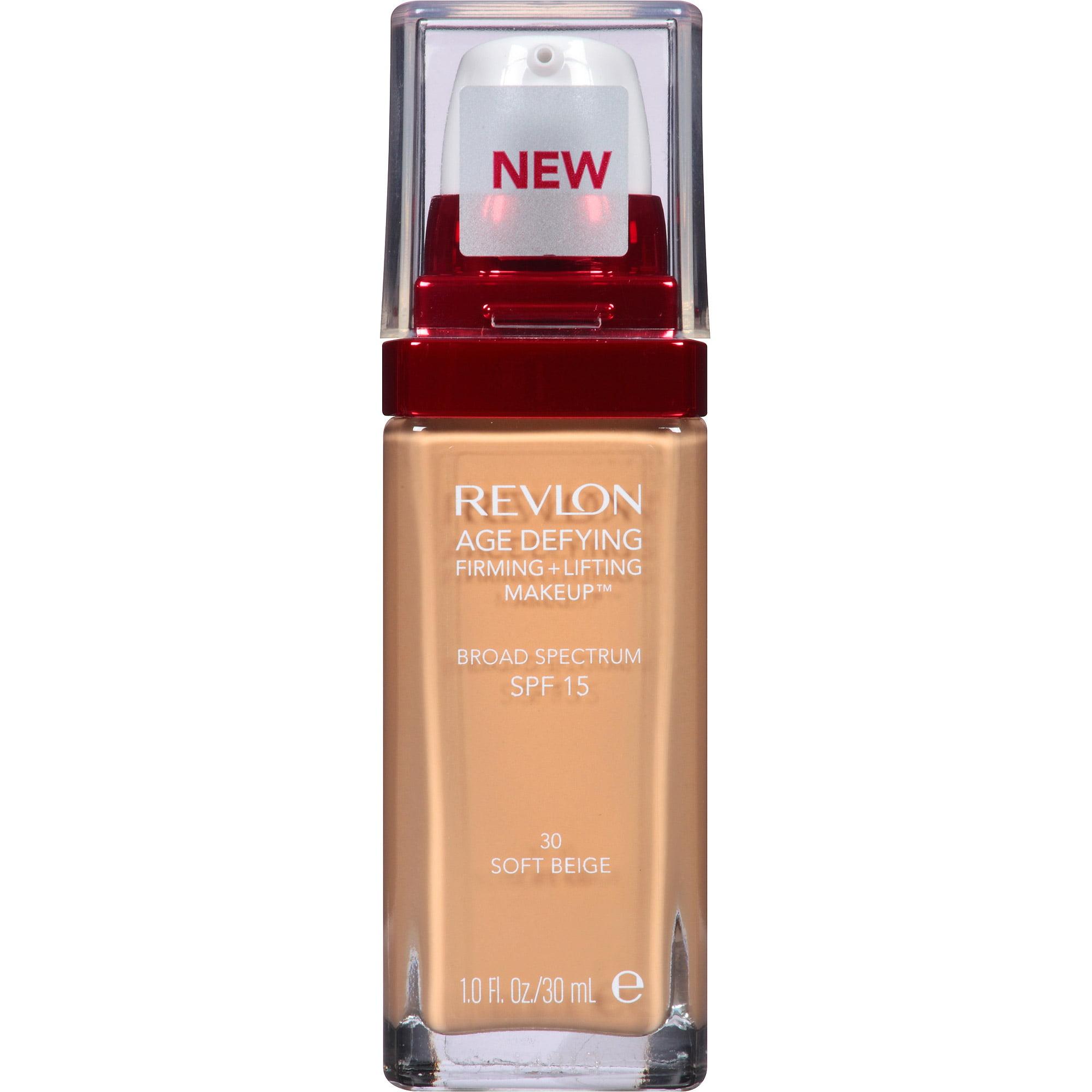 Revlon Age Defying Firming + Lifting Makeup, 30 Soft Beige, 1 fl oz