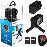 """ORGOO OC1/BLK Swift 4K Action Camera Electronic Image Stabilization, Sony Image Sensor, 2"""" IPS Touchscreen, Accessories (Ip68 Certified Waterproof Case, Wearable Remote, Mini Tripod, and More) - Best Reviews Guide"""