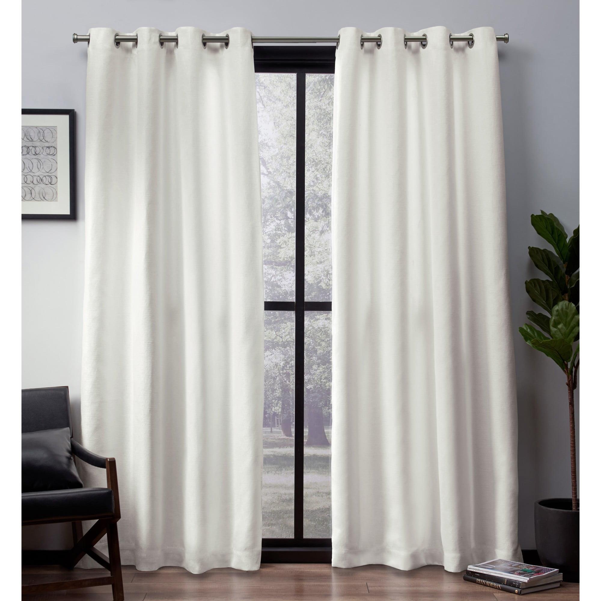 Exclusive Home Curtains 2 Pack Leeds Textured Slub Woven Blackout Grommet Top Curtain Panels