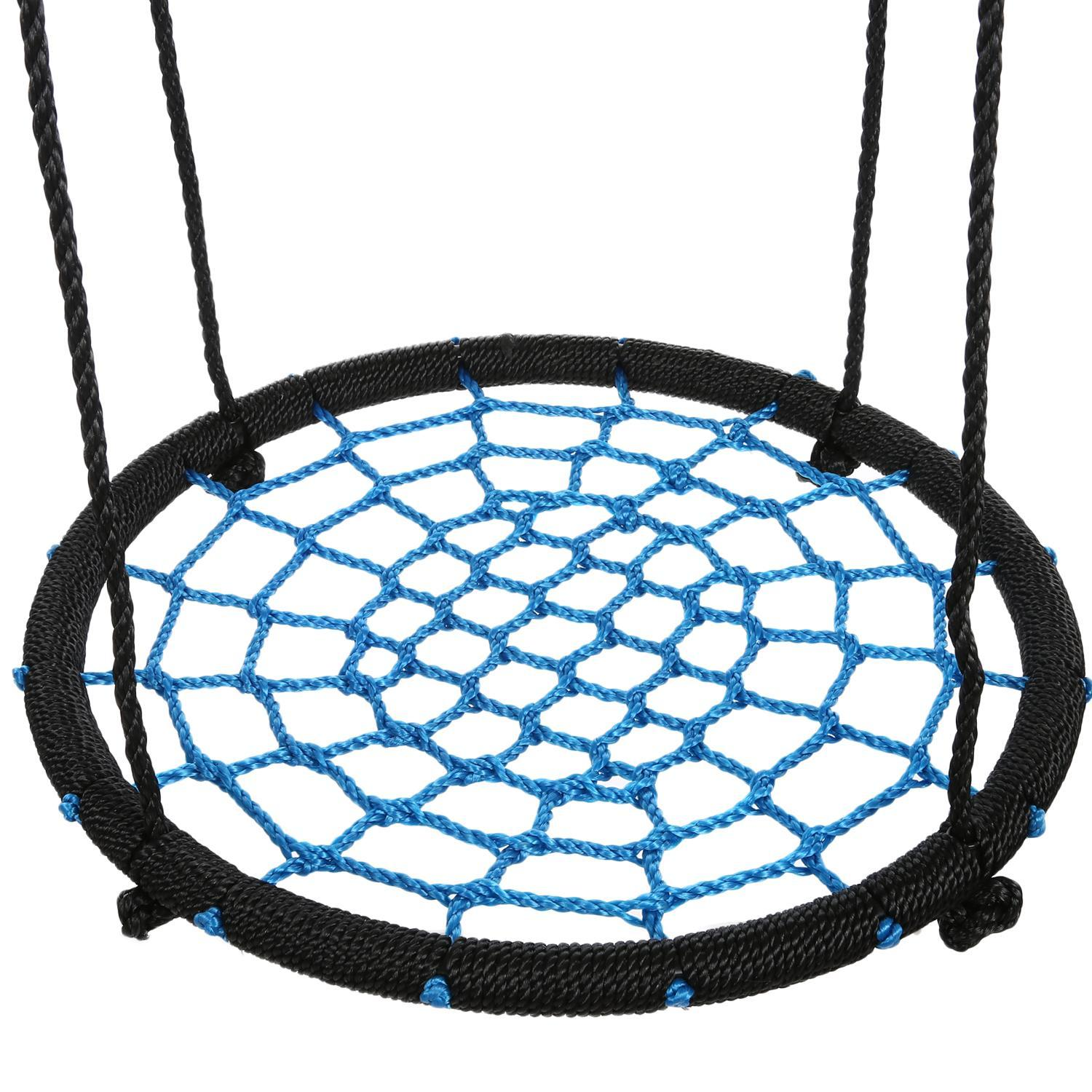 "Kids 24"" Round Rope Tire Tree Web Net Swing Nest  Outdoor Spider Web Swing ECBY"