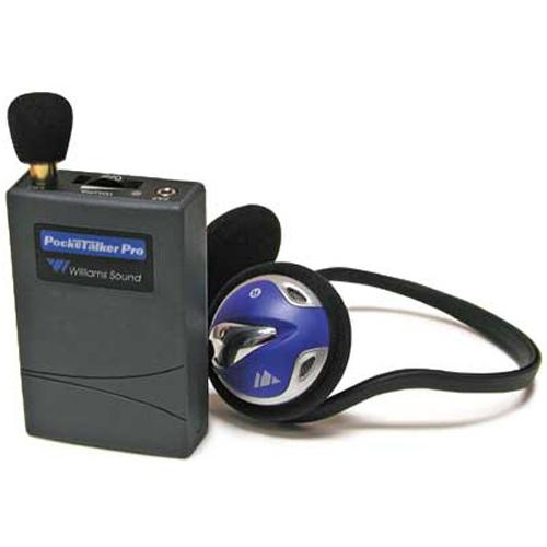 Williams Sound PKTPRO1-H26 Pocketalker Pro with Deluxe Behind the Head Headphone