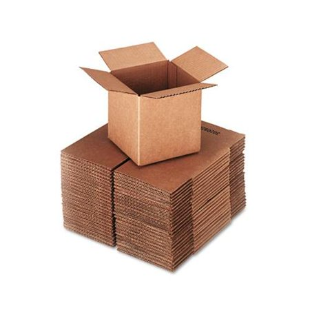 brown corrugated cubed fixed depth shipping boxes ufs666. Black Bedroom Furniture Sets. Home Design Ideas