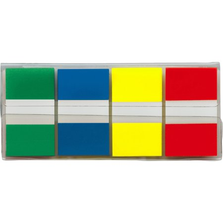 Post It Flags  Assorted Primary Colors   94 In  Wide  80 On The Go Dispenser  2 Dispensers Pack