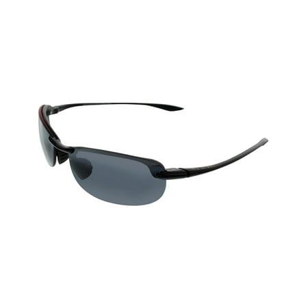 2a359487148eb Maui Jim - Maui Jim Men s Makaha 405-02 Black Semi-Rimless Sunglasses -  Walmart.com