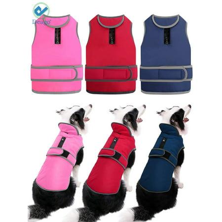 Deago Medium Dog Vest Jacket Padded Coat Sweater Warm Dog Clothes Pet Cold Weather (Best Dog Shoes For Cold Weather)