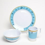 Galleyware Company Decorated Offshore Melamine 12 Piece Dinnerware Set, Service for 4