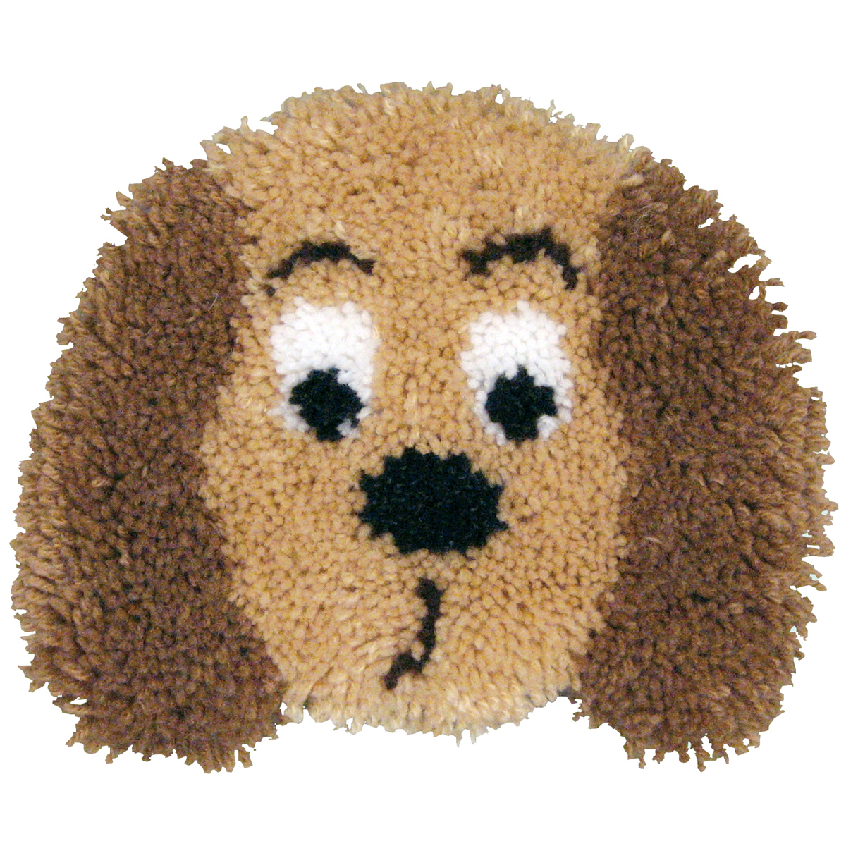 "Huggables Shaped Pillow Latch Hook Kit 13""X11""-Puppy"