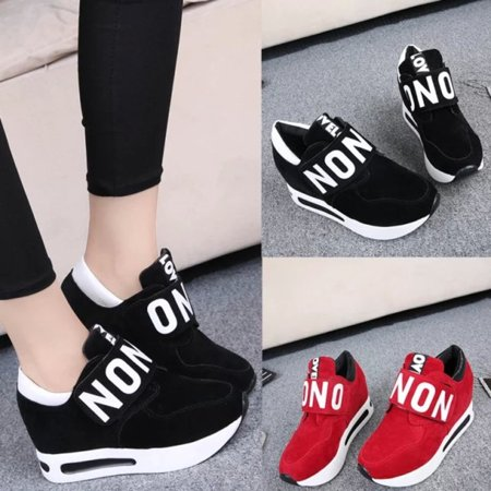 Women Platform Casual Shoes Slip On Sport Sneakers Running Loafers