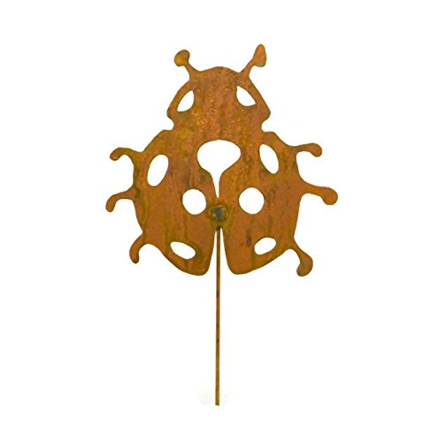 Ladybug Decorative Metal Garden Stake, Whimsical Yard Art!