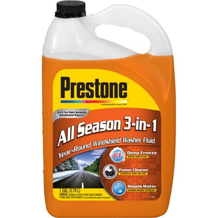 Prestone All Season 3-in-1 Windshield Washer Fluid, Low VOC