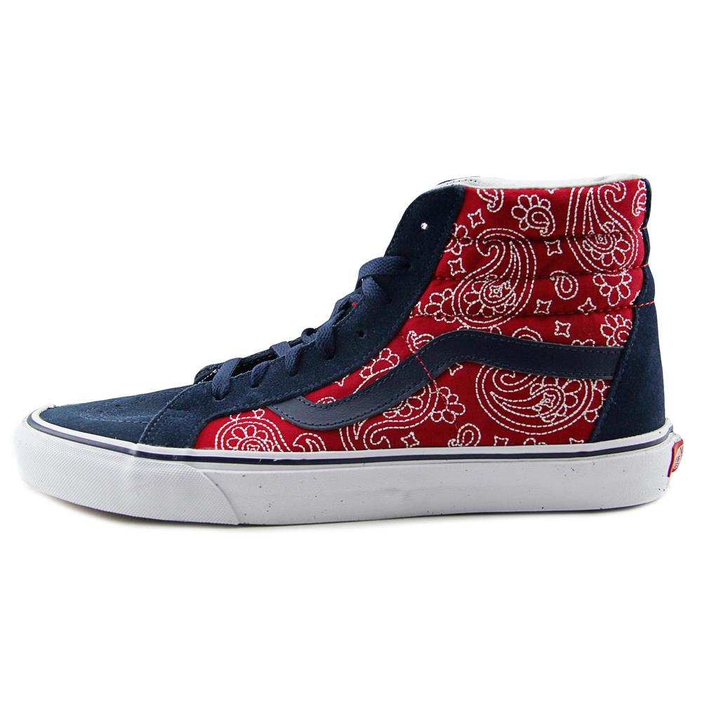 Vans - Vans Sk8-Hi Reissue Men Round Toe Canvas Red Skate Shoe - Walmart.com 5350673e8