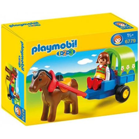 Playmobil 1.2.3 Pony Wagon Set #6779