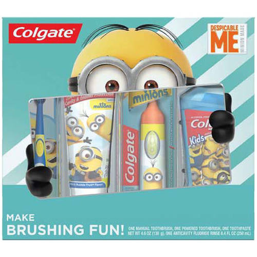 Colgate Minions Kids Mixed Oral Care Gift Set, 4 pc