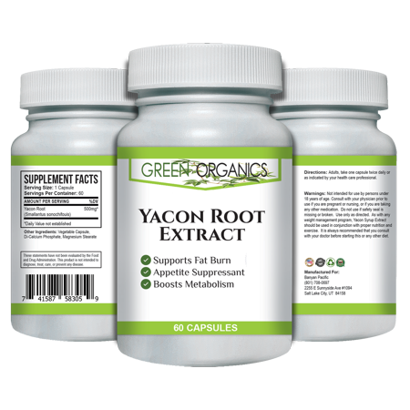 Pure Yacon Root Powder   Potent Weight Loss Diet Pills   Metabolism Boosting   Maintains Healthy Blood Sugar Levels   Improves Digestive Health